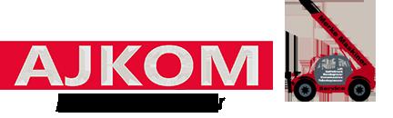 AJKOM Mørke Maskiner logo